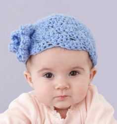 Baby Hat with Flower