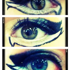 Dance makeup! My eye is the one on the top!