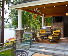 Exterior Patio/Deck area designed by MacPherson Construction and Design