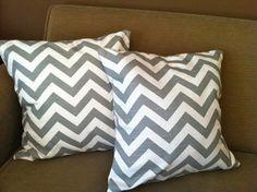 Set of Grey Chevron Pillows  Two Chevron by StuffedFullofLove, $28.50