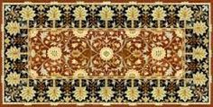 The Little Flower rug with palmate border -- designed by William Morris