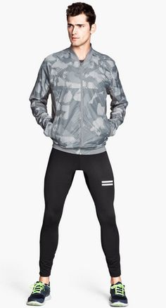 H & M sportswear spring summer 2014: mens running tights