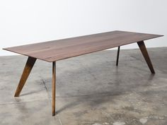 Vista St Dining Table by Nathan Day Design. Made to order in American Oak, American Walnut or Ebonised (Black) American Walnut. Constructed entirely from. Custom Furniture, Table Furniture, Modern Furniture, Furniture Design, Walnut Dining Table, Dining Room Table, A Table, Plywood Table, Mid Century Modern Table