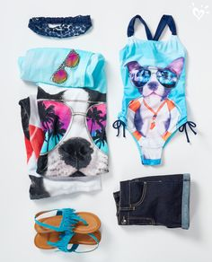 You'll never look more cool doing the doggie paddle in the pool.