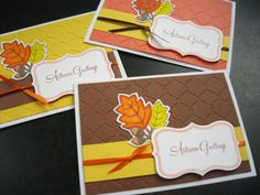 Thanksgiving Cards Autumn Cards Thank You Card by apaperaffaire