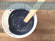 DIY: pintura pizarra casera (chalk paint).   Manualidades