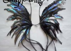 How to make Basic Fairy Wing Tutorial (purchase pattern) Diy Angel Wings, Diy Wings, How To Make Clay, Make And Sell, Dark Fairy Costume, Renaissance, Crochet Fairy, Steampunk Costume, Jewelry Making Tutorials