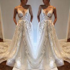 Wedding Dresses,Lace Wedding Gowns,Bridal Dress,Spaghetti Straps Wedding Dress,Brides