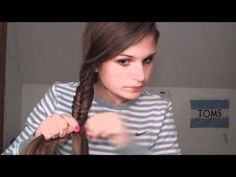 4 Days of Braids Hairstyles. I always wondered how to do a fish-tail braid looks so easy! # water fall Braids tutorial 4 Days of Braids Hairstyles # water fall Braids tutorial Super Cute Hairstyles, Cute Girls Hairstyles, Weave Hairstyles, Fishtail Hairstyles, Everyday Hairstyles, Different Braids, Sport Hair, Beautiful Long Hair, Love Hair