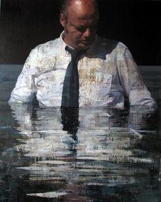 Francois Bard - galerie Olivier Waltman - LE BAIN I