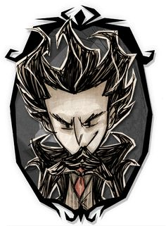 Don't Starve Together - Wilson Shadow Skin Art