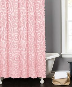 Love this Pink Gwyneth Shower Curtain on #zulily! #zulilyfinds