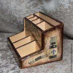 """Подставка """"Писатель"""" - Декупаж,оригинальный подарок,карандашница,подставка для карандашей"""