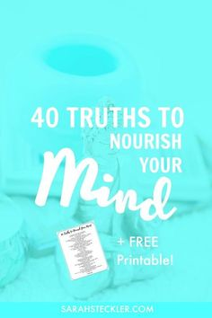 Sometimes you just need a reminder about why life matters, why you're amazing, and how crazy and complex the world around us is. I so gotchu on this! Check out these 40 truths to nourish your mind + a FREE printable that you can glue into your favorite notebook or hang up by your desk.