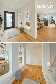 Small House Floor Plans, Home Design Floor Plans, Home Room Design, Interior Design Kitchen, Modern Interior Design, Interior Architecture, Living Room Designs, Home Entrance Decor, House Entrance