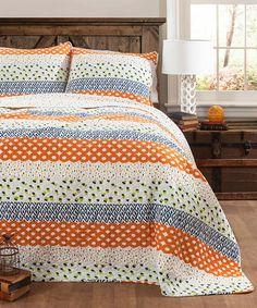Another great find on #zulily! Orange Franny Quilt Set #zulilyfinds