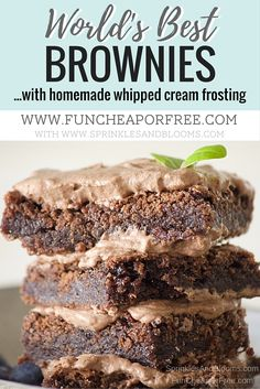 Blog post at Fun Cheap or Free :   Ok, who doesn't love brownies?? Bubba's favorite dessert in the world is brownies, so today I'm sharing the world's best brownie recipe [..]