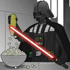 Star Wars: Popcorn ~~~ Deep down, we've always suspected he used his lightsaber for things like this! (lol) Star Wars: Popcorn ~~~ Deep down, we've always suspected he used his lightsaber for things like this! Star Wars Meme, Star Wars Comics, Star Wars Witze, Star Wars Party, Disney Star Wars, Images Star Wars, Star Wars Pictures, Starwars, Star Wars Desenho