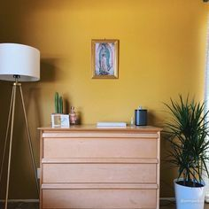 Copper Paint Colors, Yellow Paint Colors, Yellow Painting, Canvas Drop Cloths, Bright Paintings, Paint Samples, Home Free, Interior Walls, Color Card