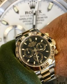 Rolex Daytona Steel & Gold Black Dial 116503