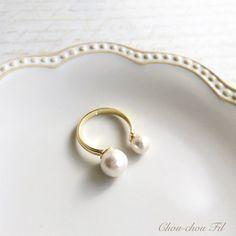 2つの小さなパールを並べたW pearl…