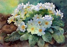 Love her flower watercolor paintings