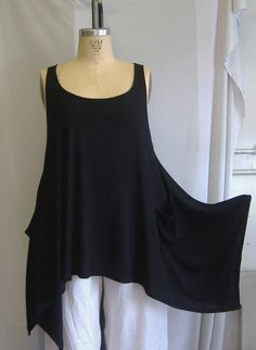 Coco & Juan Plus Size Tunic - I could make this with fabric yardage! Perfect for layering in any season!