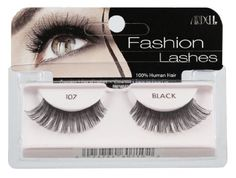 Ardell Fashion Lashes Pair - 107 (Pack of 4) by Ardell. $11.69. Stay secure until you take them off. May be re-used up to three weeks. 100% Human Hair. Comfortable to wear. Easy to apply. Ardell fashion lashes look so real, so natural that others think you were born with beautiful, lush eyelashes.  made of 100% sterilized human hair, each lash strip is knotted and feathered by hand to achieve the highest quality.  when used with ardell lashgrip eyelash adhesive, they are ...