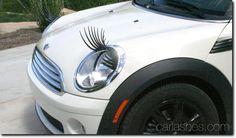 Car Headlight Eyelashes VW Bug Black Carlashes for Girls Car