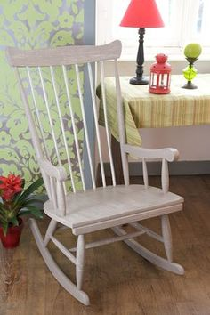 fauteuil rocking chair rotin vert pastel r tro vintage. Black Bedroom Furniture Sets. Home Design Ideas