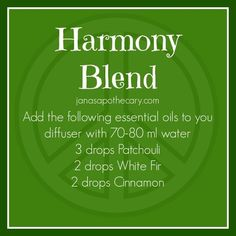 Harmony Blend. Essential Oil Blend for a diffuser.: