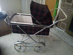 Vintage Antique Baby Carriage Push Buggy Stroller Pram cart (1950s-1960s) RARE…