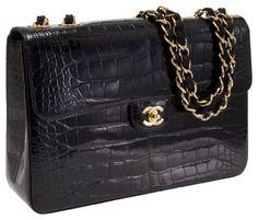 Millionairess of Pennsylvania Street Style - CROCODILE CHANEL - only a classic Chanel black handbag will do