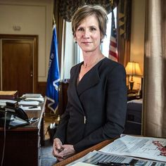"""Acting Attorney General Sally Yates was fired after encouraging the Justice Department not to support Donald Trump's executive order banning immigrants from entering the country. She's now nominated for the John F. Kennedy Profile in Courage Award which recognizes public officials """"who risked their careers by embracing unpopular positions for the greater good."""" (: @gettyimages)  via GLAMOUR MAGAZINE OFFICIAL INSTAGRAM - Celebrity  Fashion  Haute Couture  Advertising  Culture  Beauty…"""