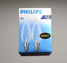 PHILIPS COLORENTA 40W E27 Opal Soft-Light Röhrenform Glühlampe Glühbirne