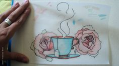 cup of tea tattoo by BrendanLove.deviantart.com on @deviantART - I would like this with more interesting flowers