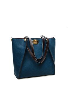 Women Girls Western Fashion Concise Pattern Synthetic Leather Handbag Shoulder Bag