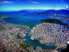 Beautiful shot of Vancouver by Mahmoud Heidarian