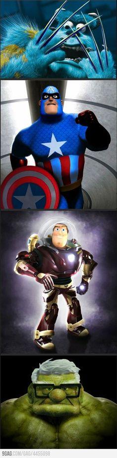 Marvel + Pixar…