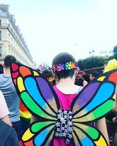 #GayPride #paris2018 #butterfly #rainbow