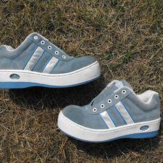 1ca5d33793f old school skechers platform sneakers 💙 size 7.5 in     - Depop Skechers  Sneakers