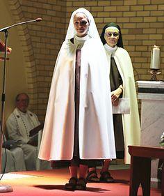 Sr Catherine Ann prepares to make her vows.