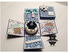 Birthday Cake Tea light candle mini explosion box