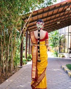 These Amazing South Indian Bridal Hair Accessories Are To Die For. For much such bridal inspiration, stay tuned with shaadiwish. Simple Bridal Hairstyle, Bridal Hairdo, Hairdo Wedding, Wedding Dress, Indian Bridal Makeup, Indian Bridal Fashion, Wedding Makeup, Bridal Looks, Bridal Style
