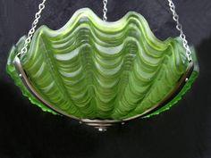 Art Deco Green Shell Ceiling Ligh