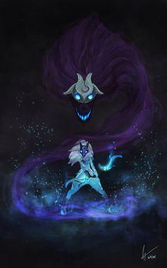 ArtStation - Kindred League of Legends, Mireia Garcia