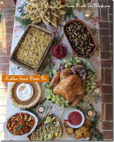 When food bloggers get together for a Thanksgiving feast.