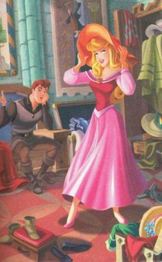 Aurora and Prince Philip Disney Princesses And Princes, Disney Princess Art, Disney Princess Dresses, Disney Fan Art, Sleeping Beauty Maleficent, Disney Sleeping Beauty, Disney And Dreamworks, Disney Pixar, Aurore Disney