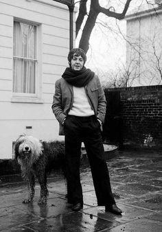 Paul McCartney and Martha the dog