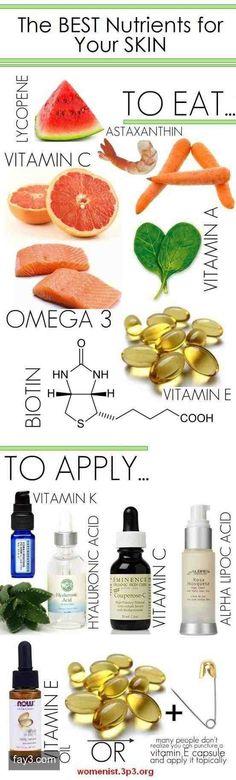 The Best Nutrients for your Skin #infographic #naturalskincare #healthyskin…